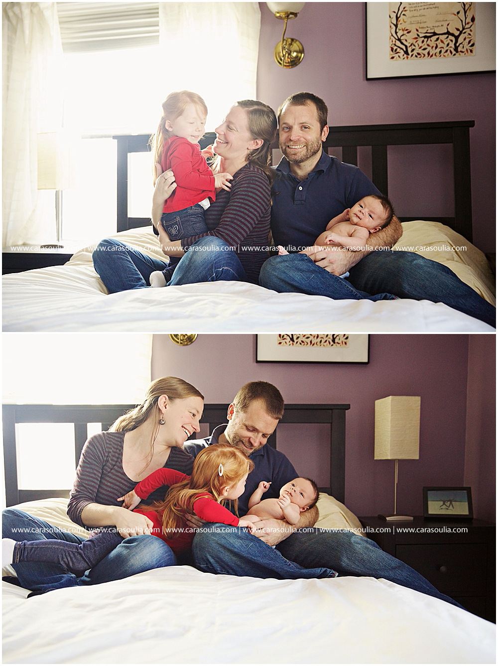 at home newborn photography session boston