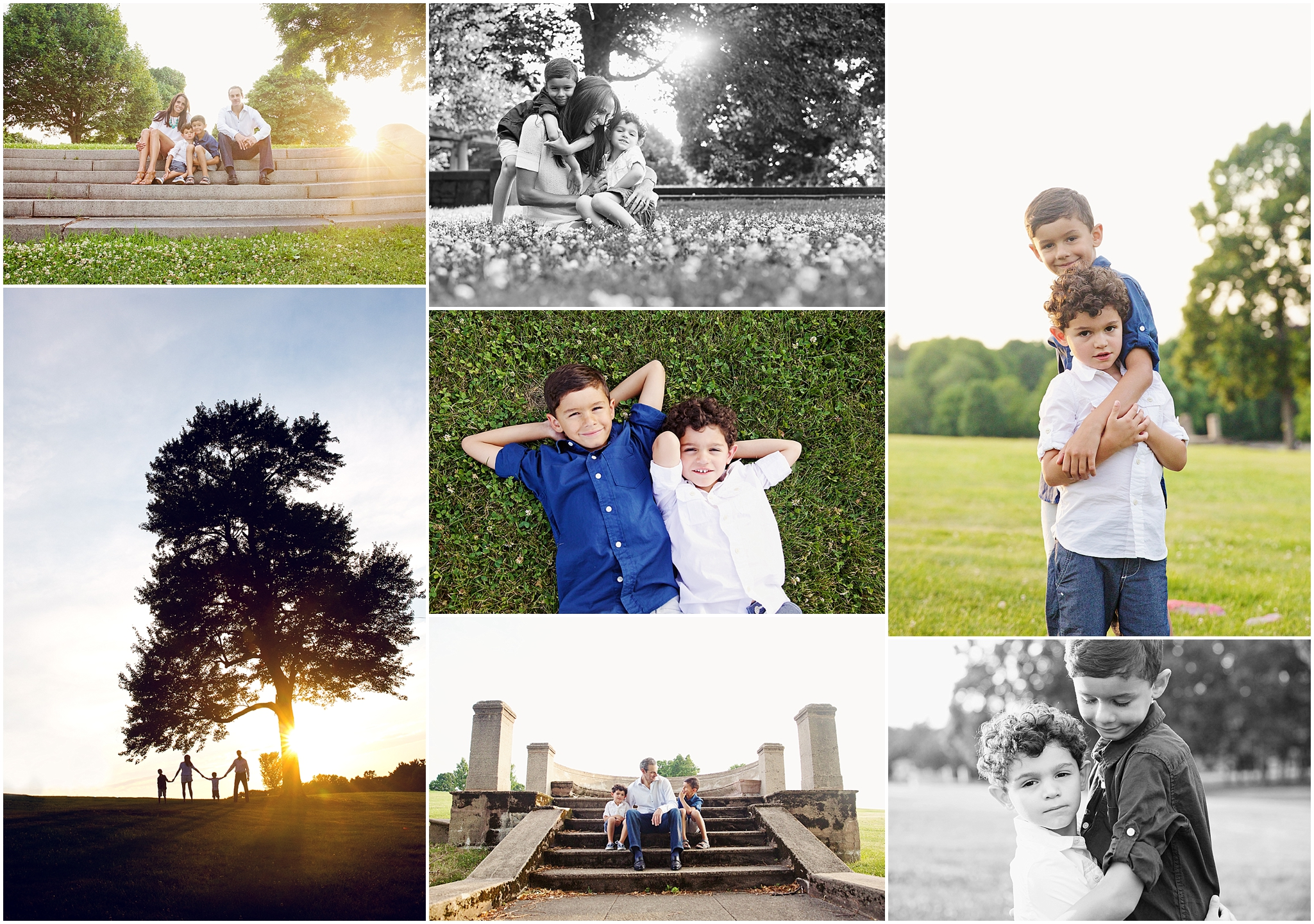 Summer evening with a family of four | Needham Family Photography