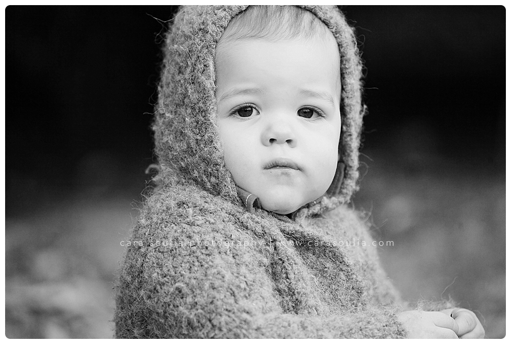 beautiful one year old portrait black and white