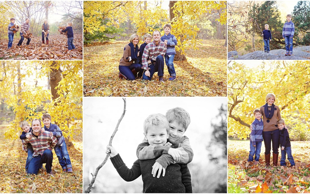 Beautiful Family of Four| fun family photography Needham MA