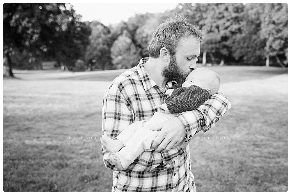 father and newborn baby boston photographer