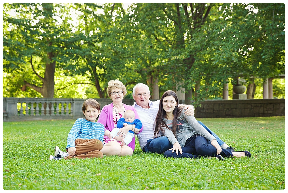 grandparents and grandkids family portrait boston ma