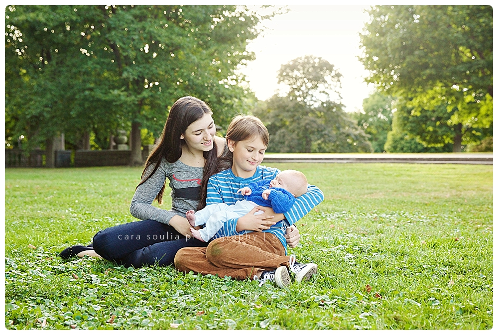older siblings with new baby boston photographer