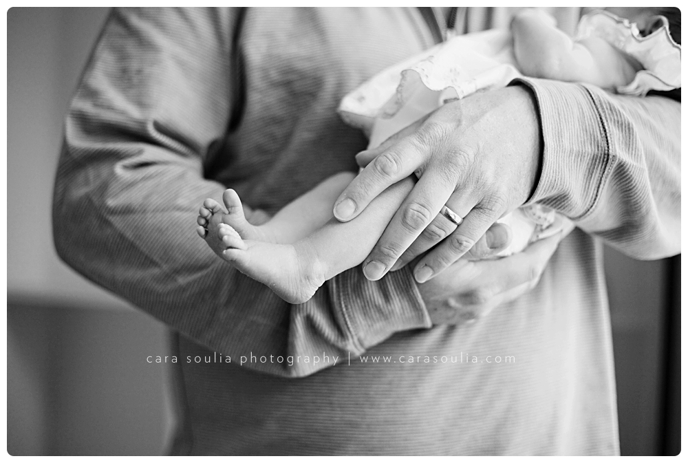 beautiful black and white newborn photographs boston