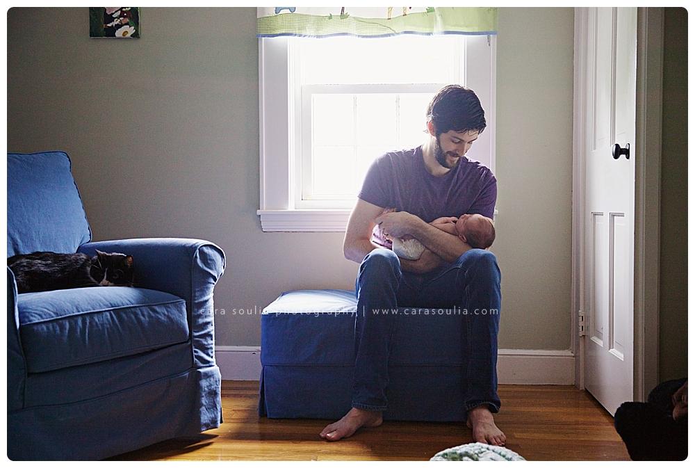 father and son newborn portrait photographer boston ma