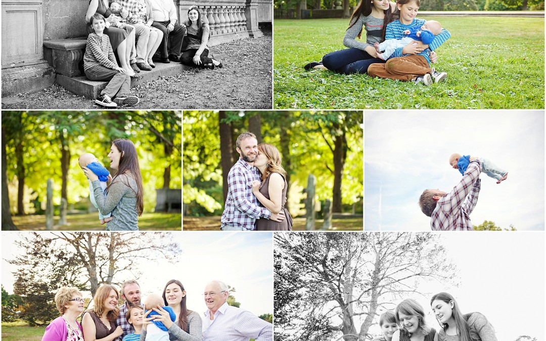 new baby love  extended family session brookline
