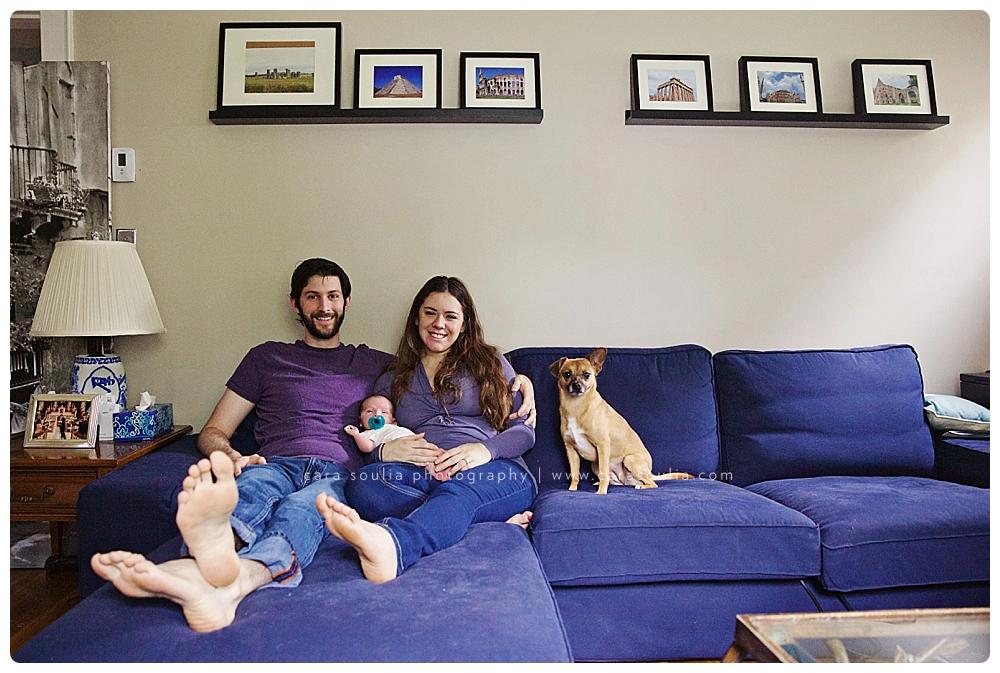 newborn photographer with dog boston ma