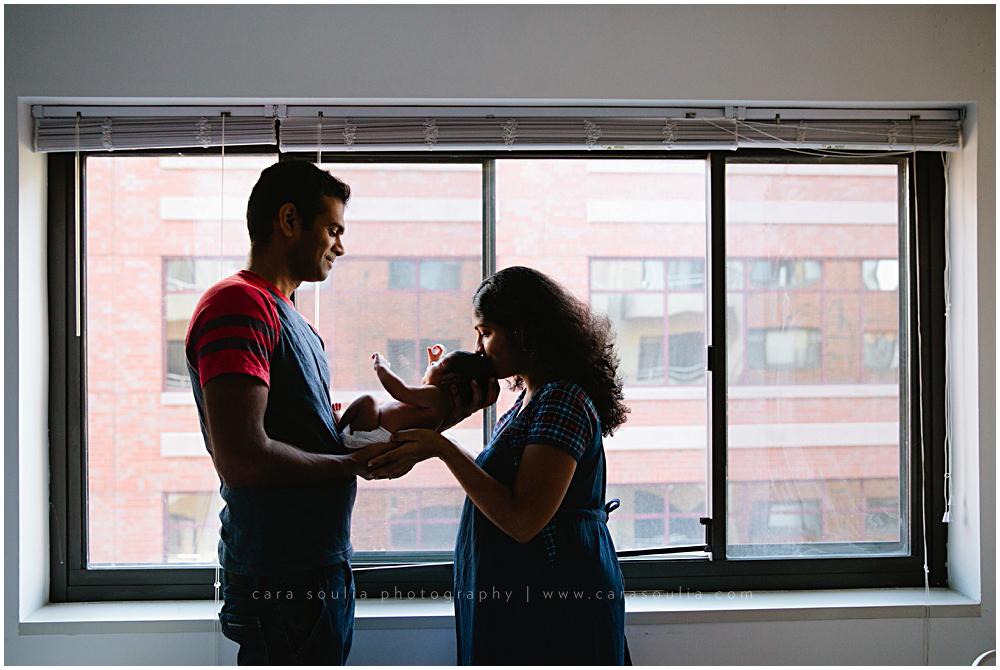at home newborn photo session boston ma