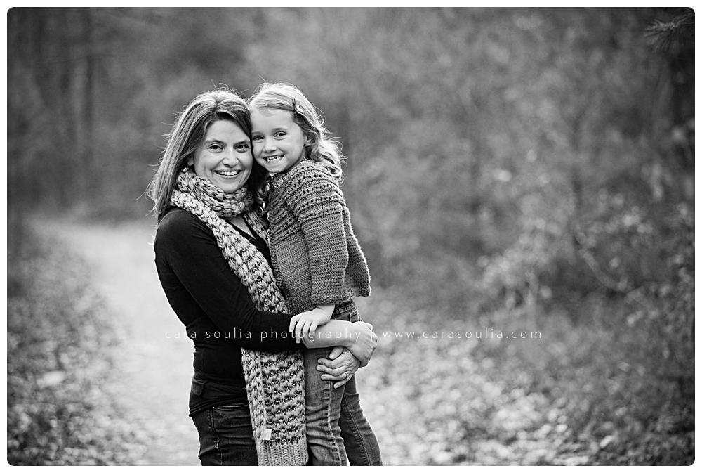 black and white mother daughter portrait massachusetts