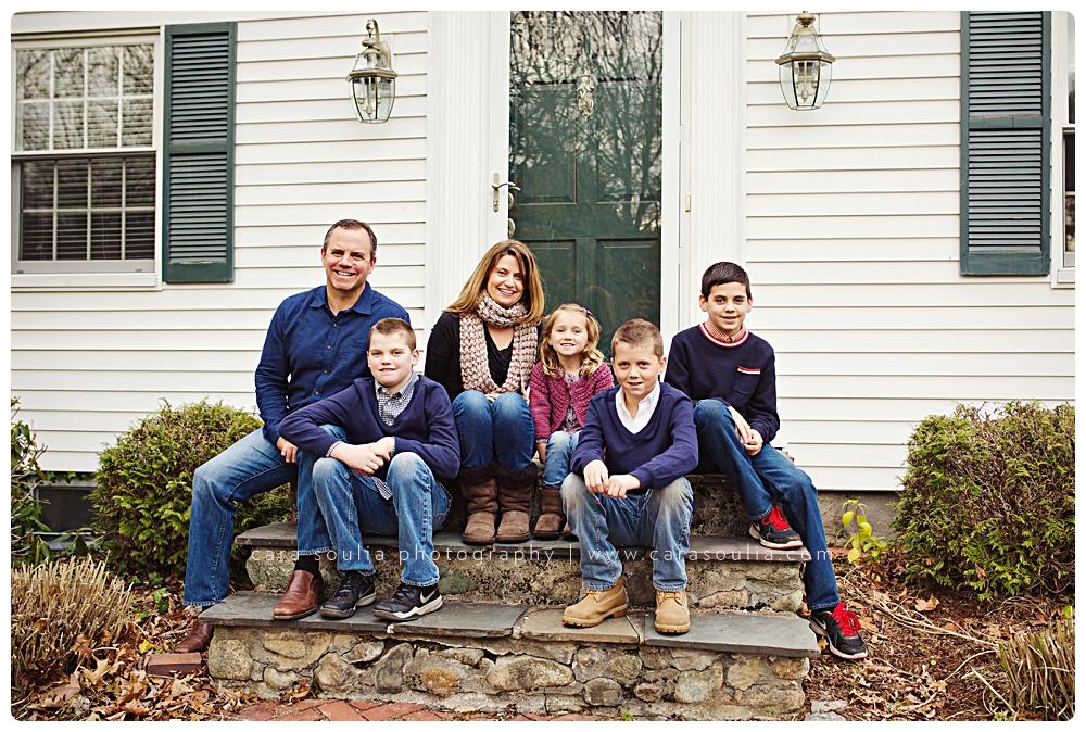 at home family photo session boston ma