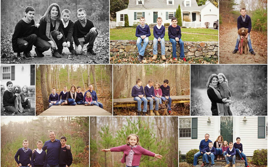 fun family of six  Westwood Family Photographer