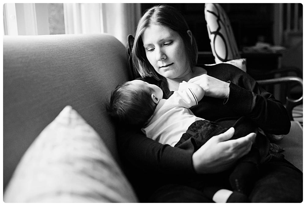 stunning black and white newborn photography boston ma