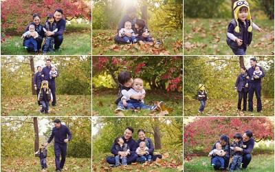 warm fall sunshine plus some minion love | boston childrens photography