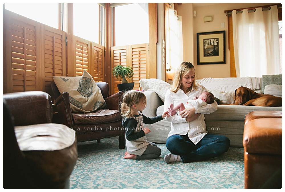 lifestyle newborn photo session at home boston mass