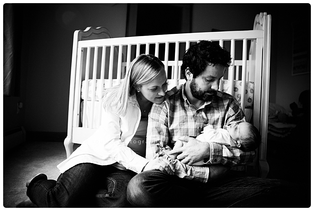 stunning black and white newborn portraits at home session boston ma