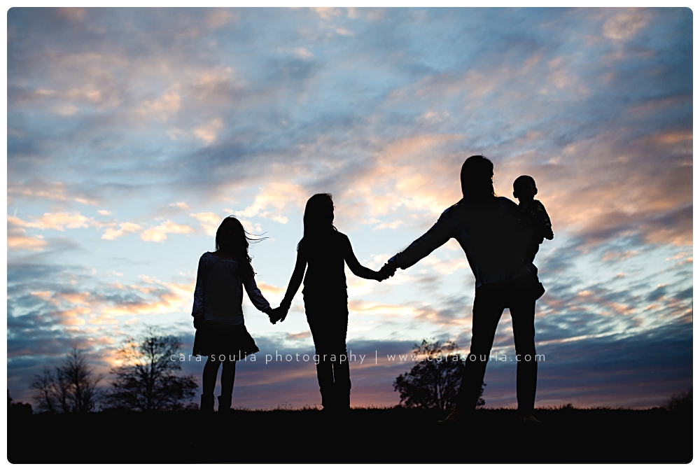 beautiful silhouette family photographer brookline mass