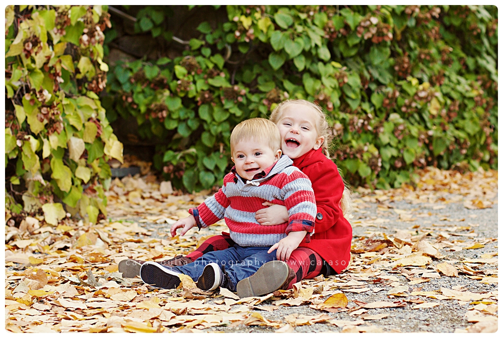 cute childrens portrait fall photo session arnold arboretum