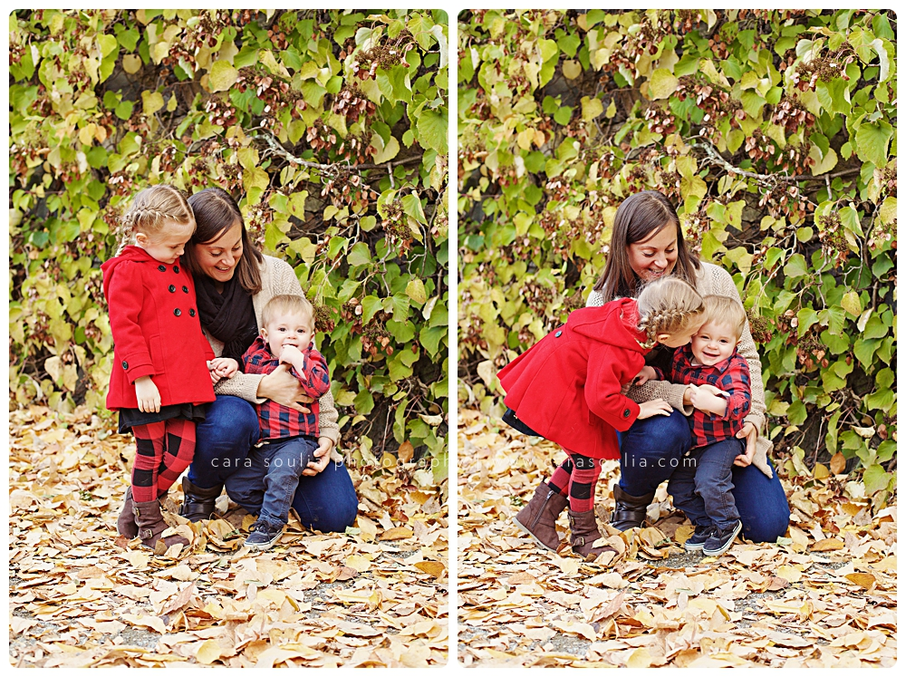 fall outdoor family photo session brookline mass