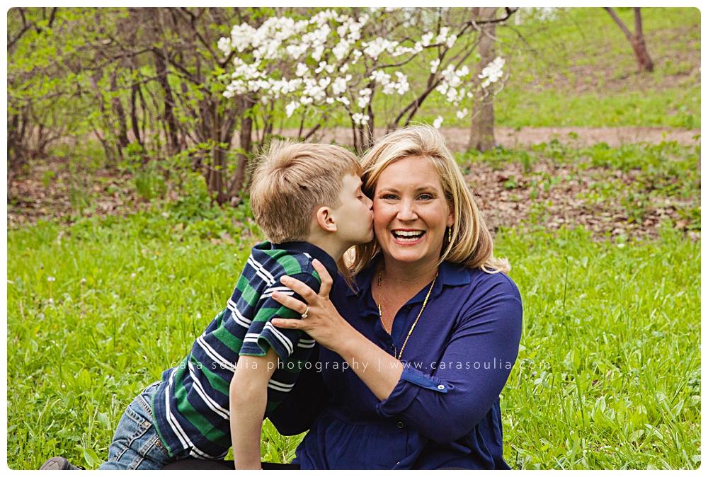 mother son family portraits outdoor arnold arboretum