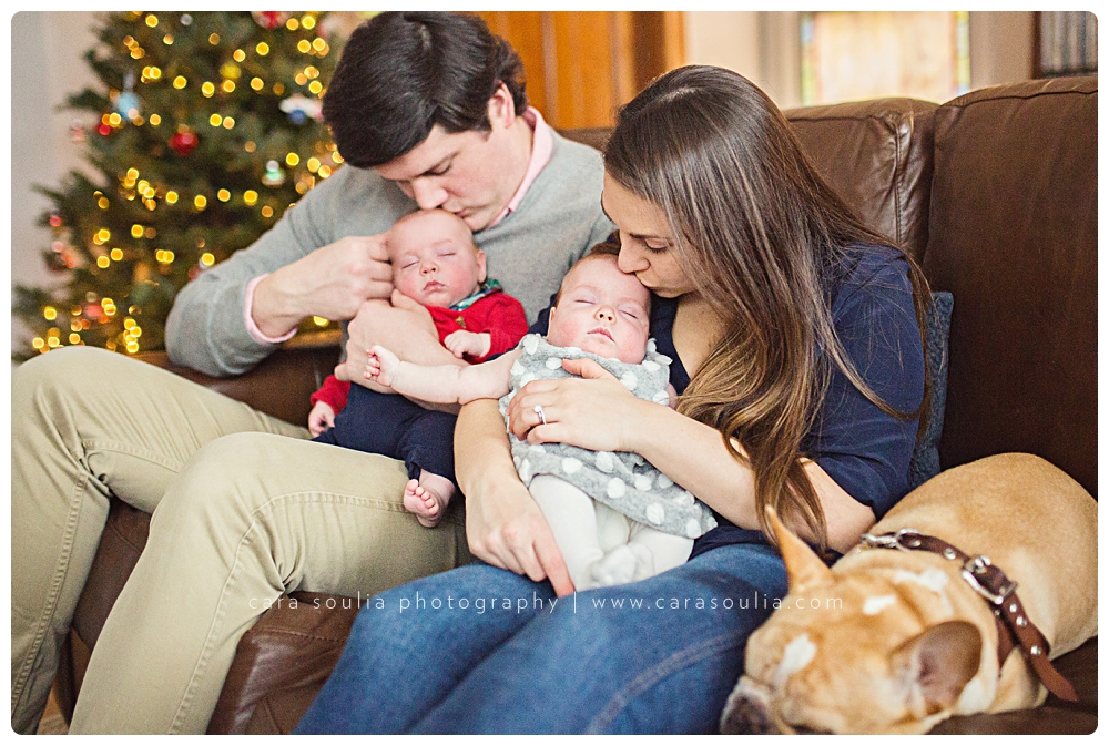 beautiful newborn photography twins session at home boston