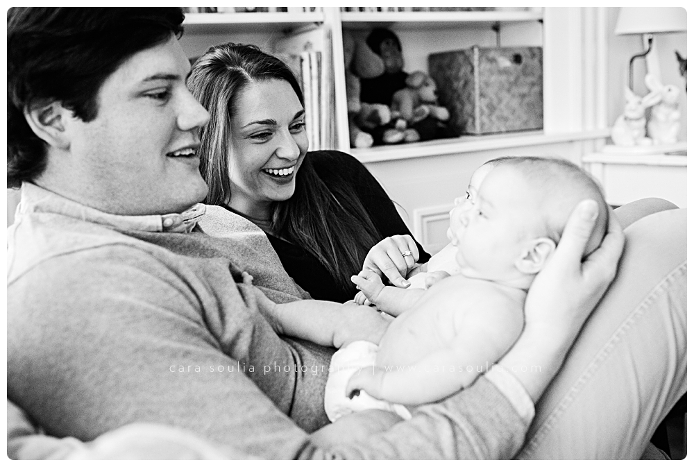 black and white newborn and family photographer boston ma
