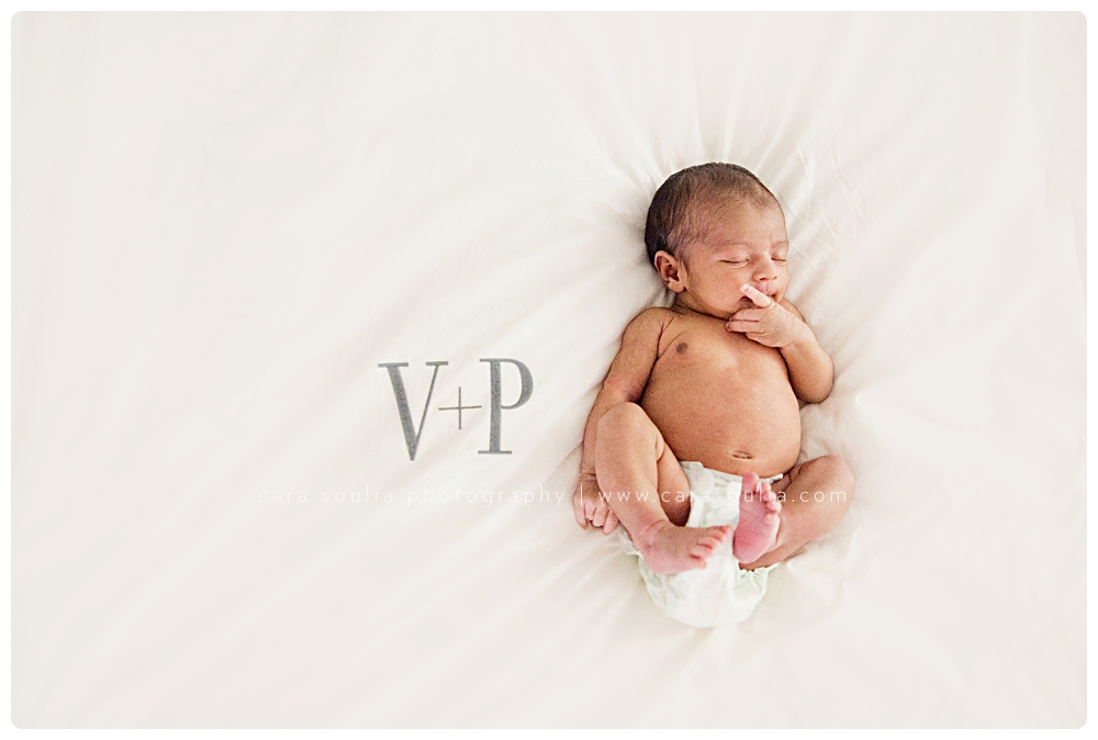 I couldnt resist incorporating mom s monogrammed sheets into an adorable newborn portrait v p maya