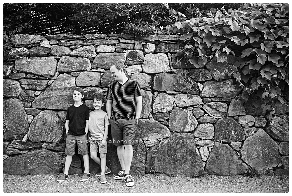 black and white family photographer boston