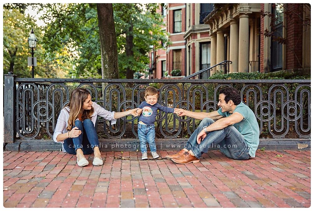 downtown boston family photo session
