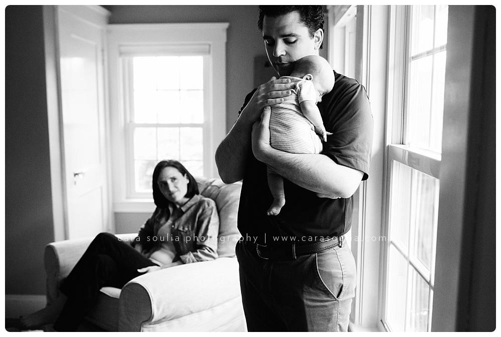 lifestyle newborn session at home needham ma