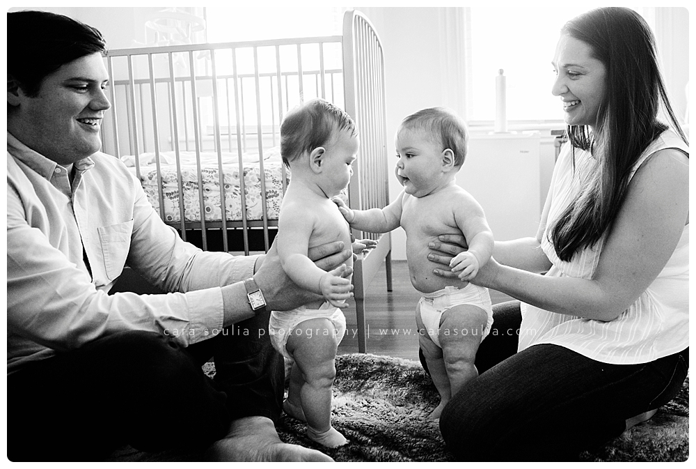 lifestyle photo session with twin babies boston mass