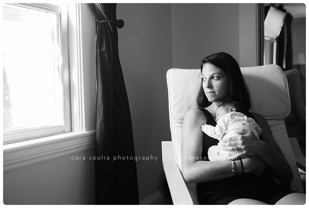 Newborn session at home in Needham, MA