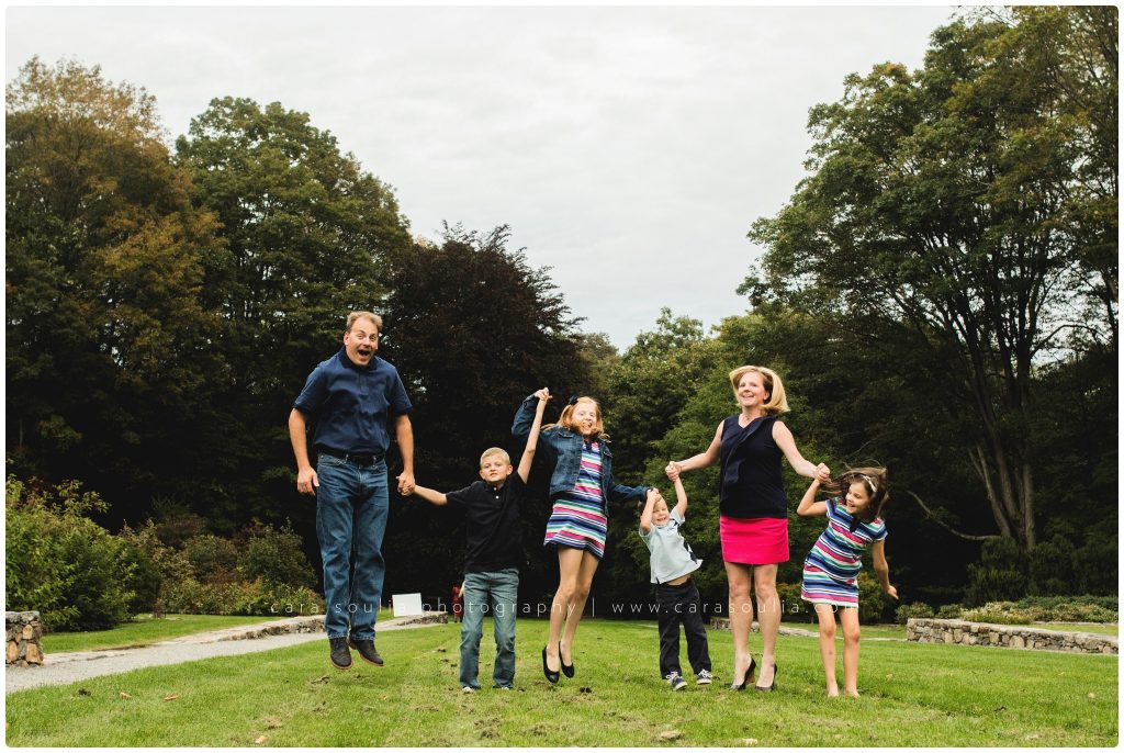 Arnold Arboretum Family of Six Cara Soulia Photography