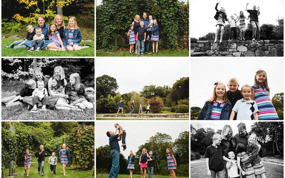 Family of SIX! | Needham Family Photo Session