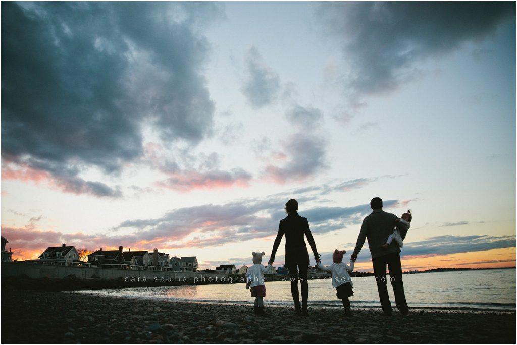 Boston Beachside Family Portrait Session Cara Soulia Photography