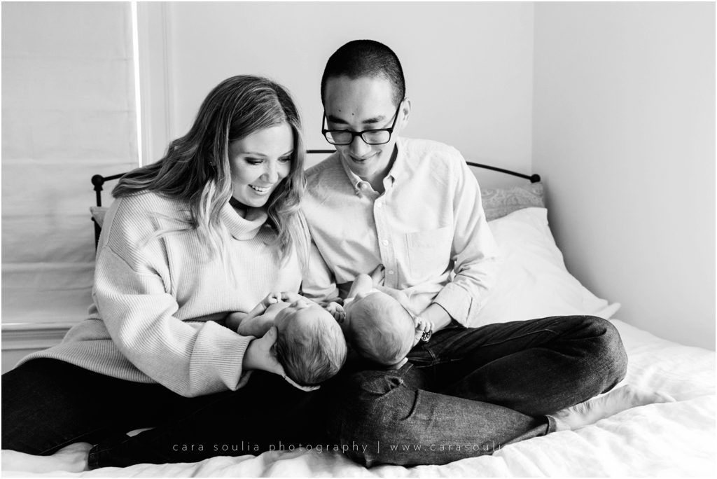 Massachusetts Twin Newborn Session Cara Soulia Photography