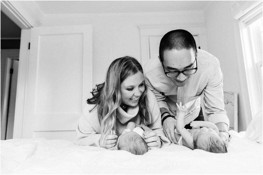 Massachusetts Twin Newborn Session Cara Soulia Photography