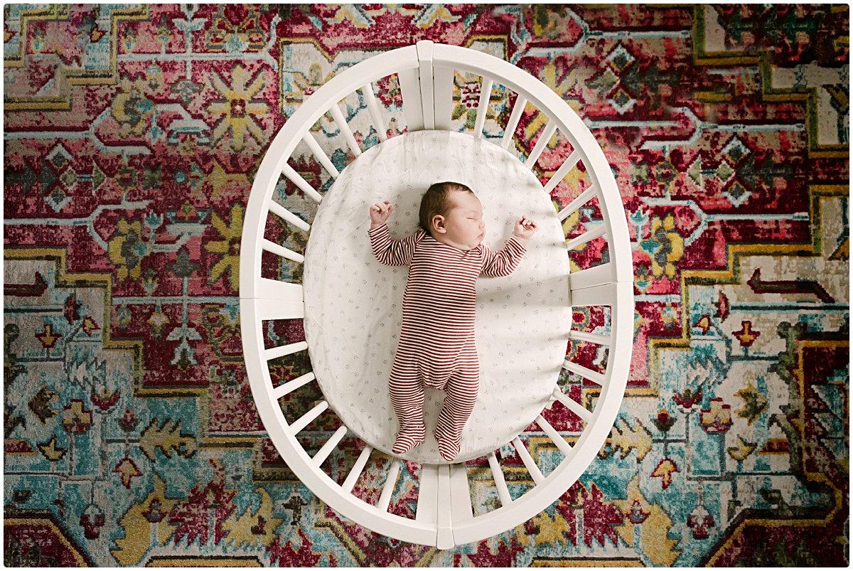 Unique Newborn Photo at home photo session for Boston Newborn