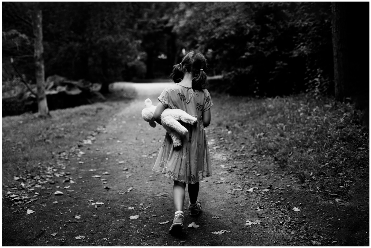Emotive black & white portraits of children in Boston