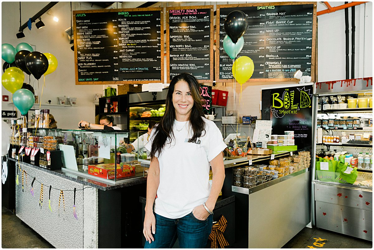 Boston photographer captures Stacy Madison at the Juice Bar in Needham, MA