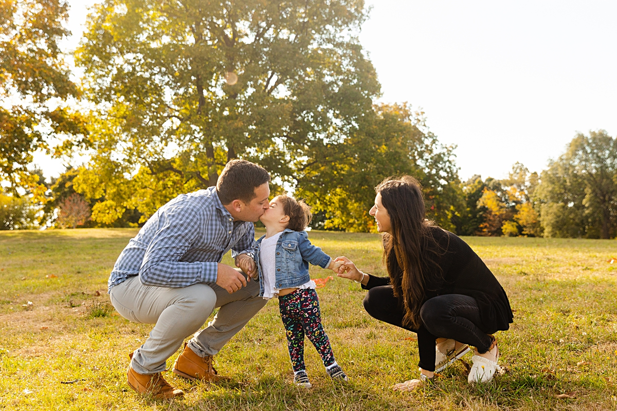 Kisses are the best at a family photo session in Boston