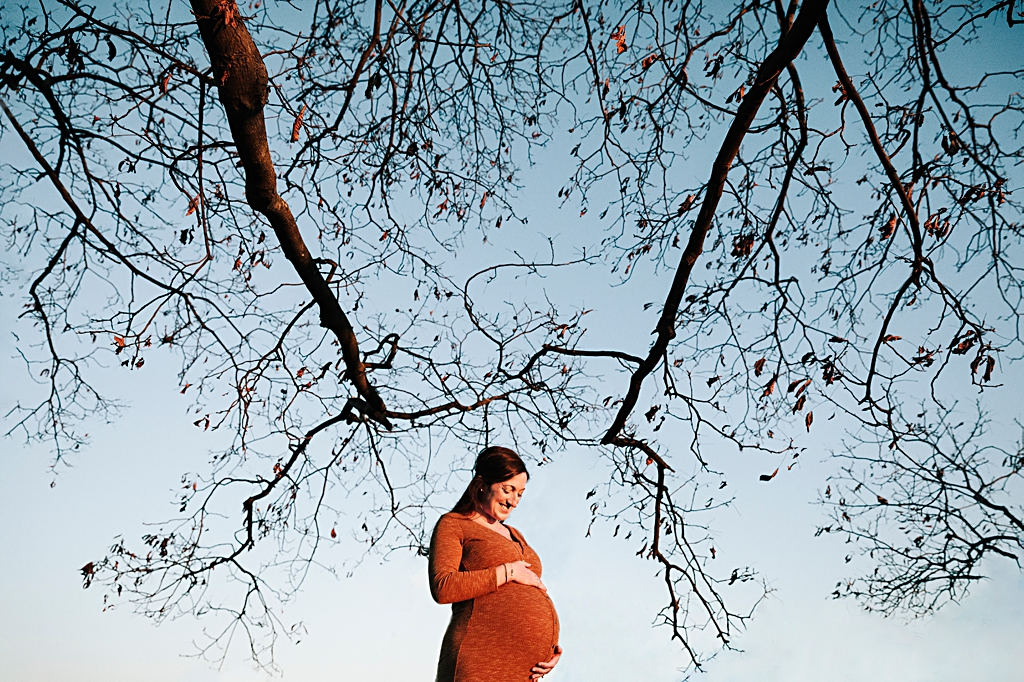 Stunning unique portrait of pregnant woman in boston maternitiy photo session