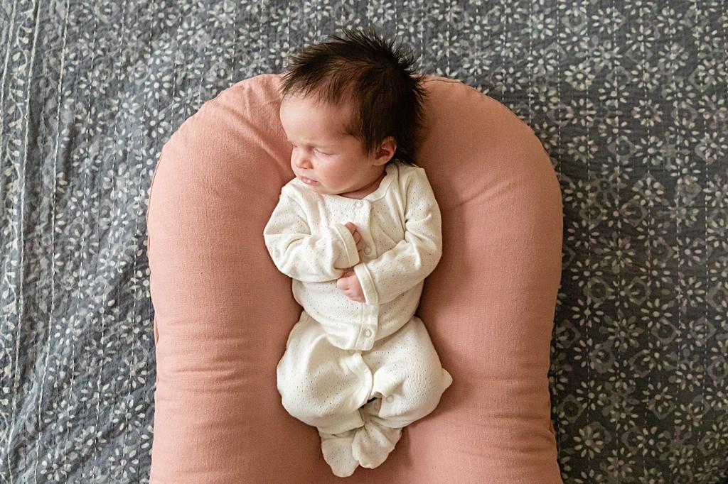 beautiful baby at a boston newborn photo session