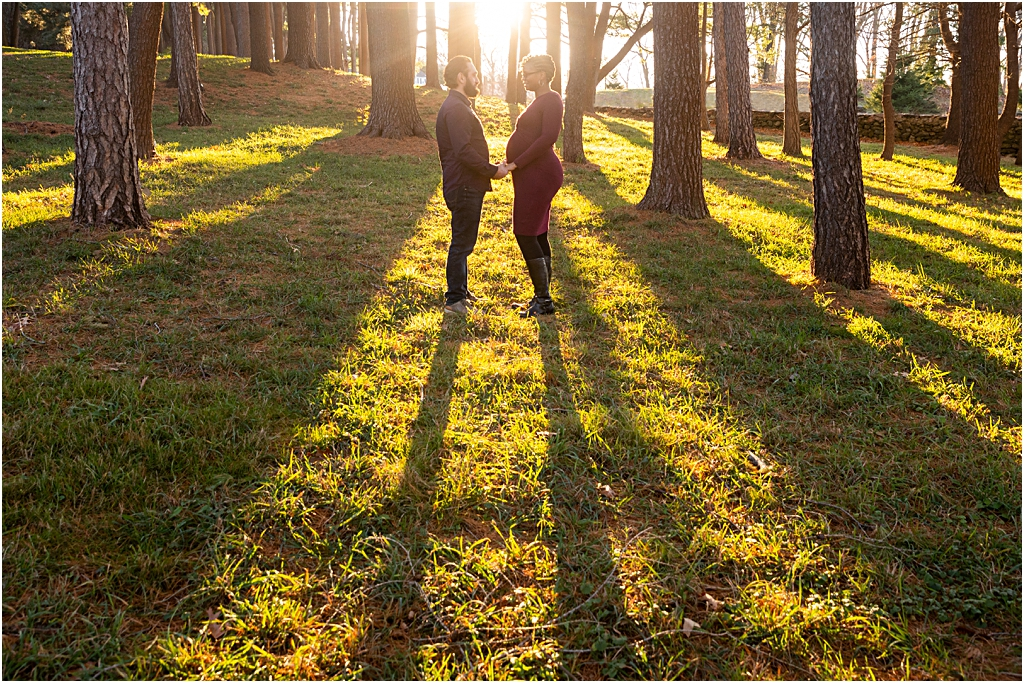 couple in sunset light at boston photo session