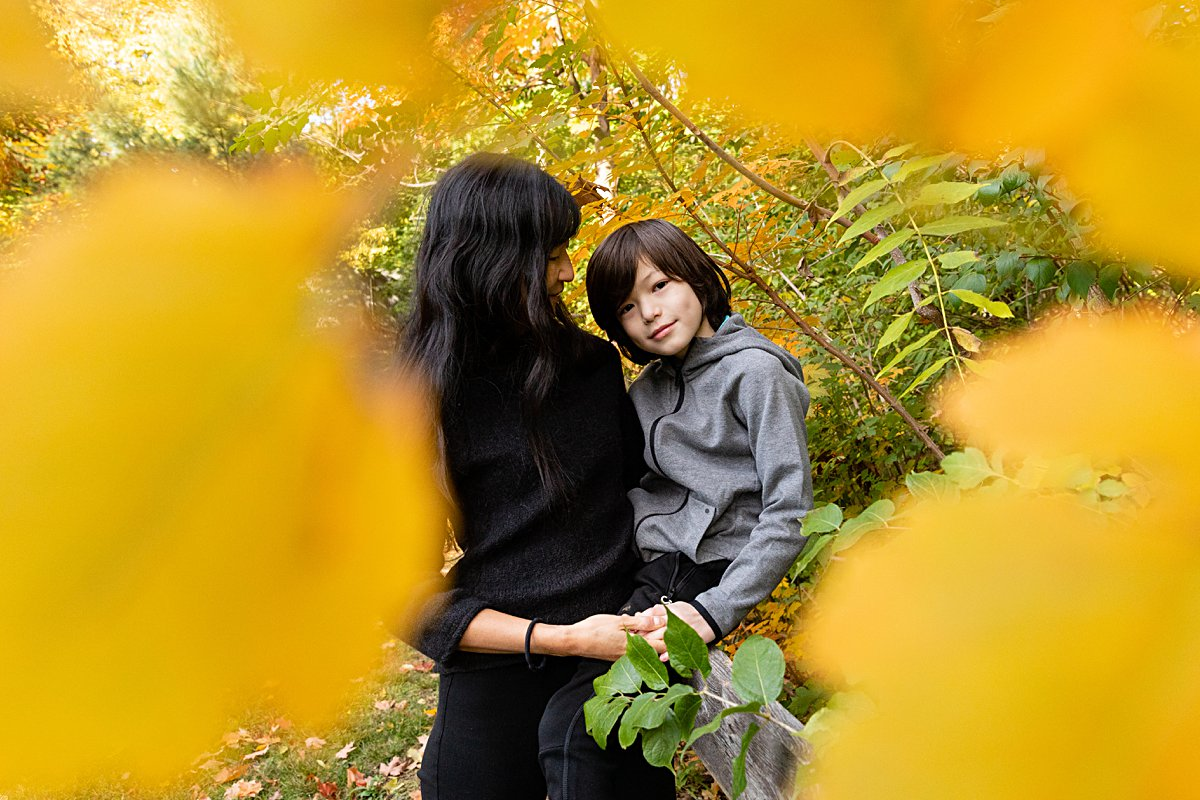 mom with teen son in boston photo session