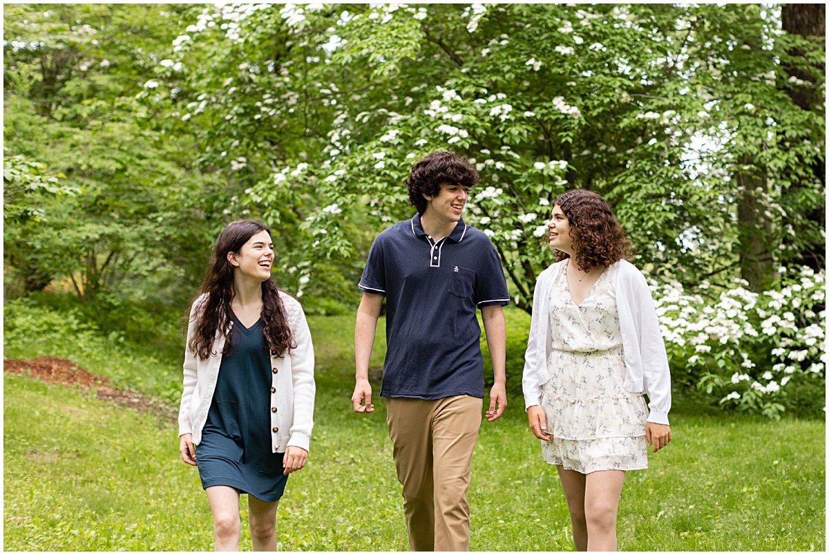 siblings high school graduation photo session boston