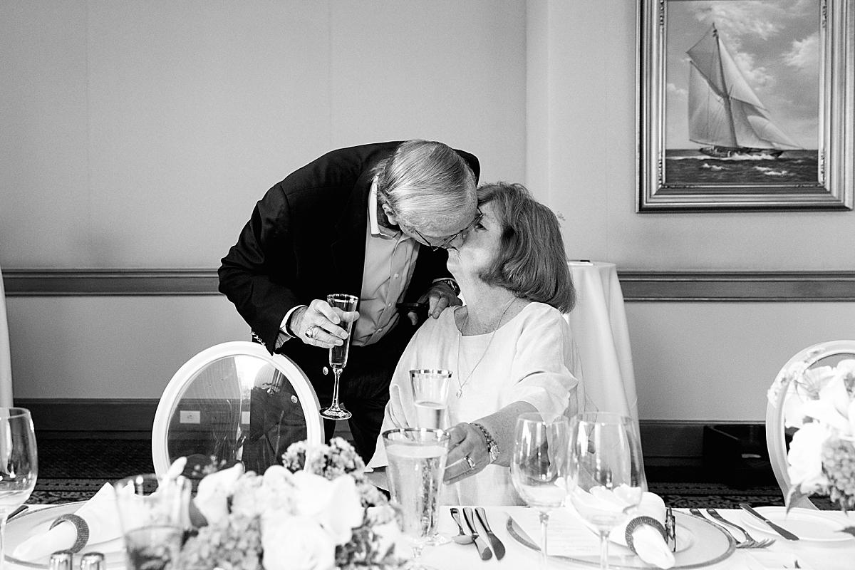 happy couple at 50th wedding anniversary boston