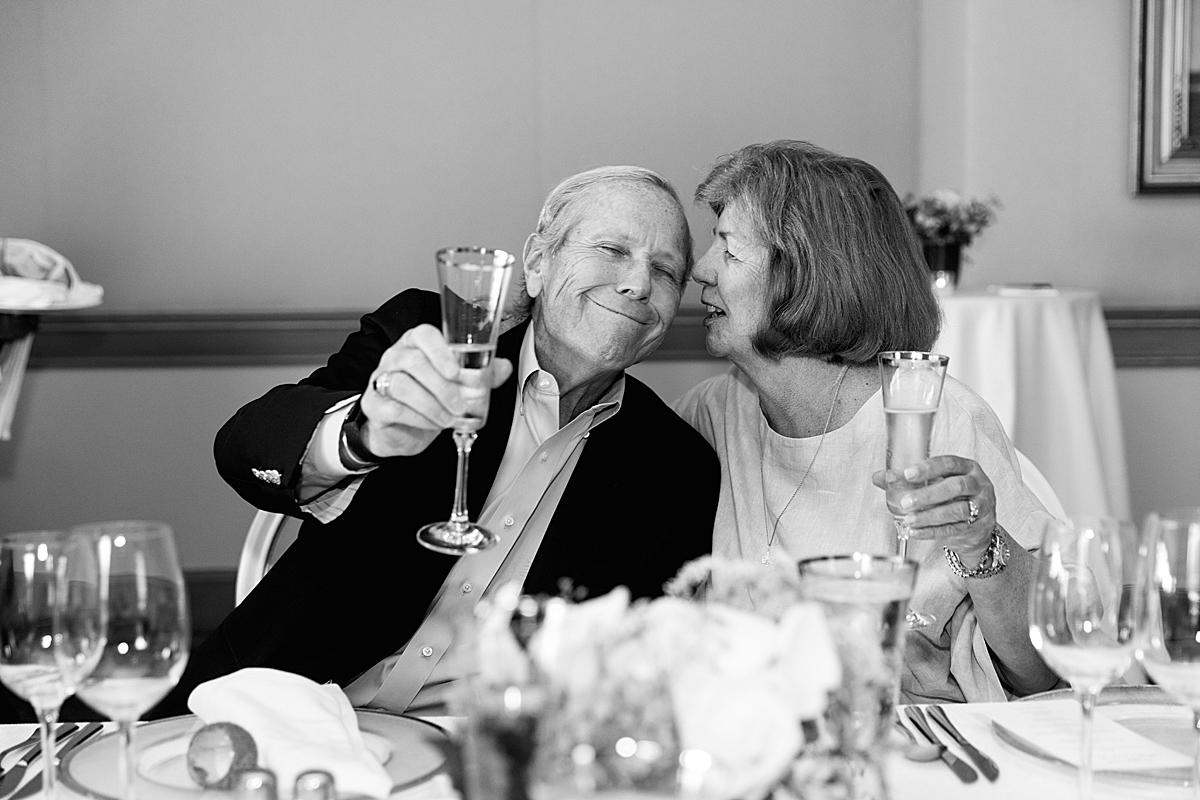 happy couple at 50th wedding anniversary event boston