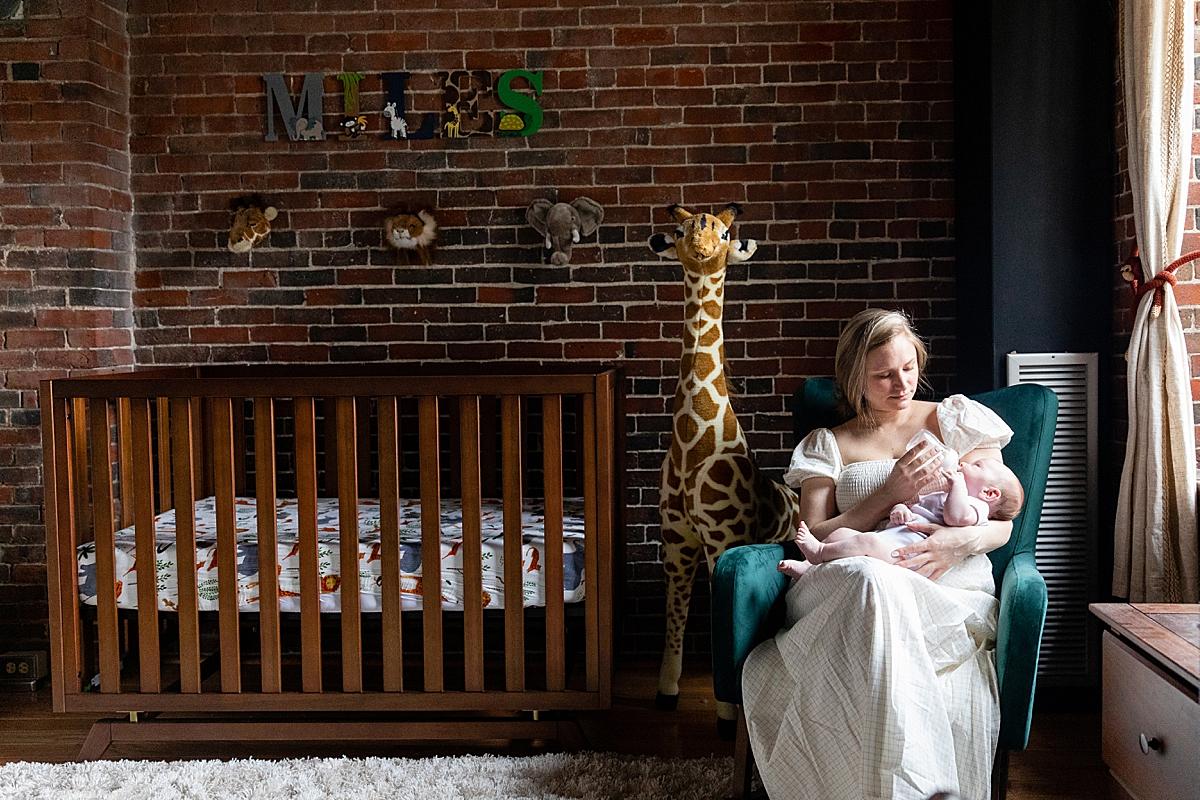 newborn photo session in your home needham