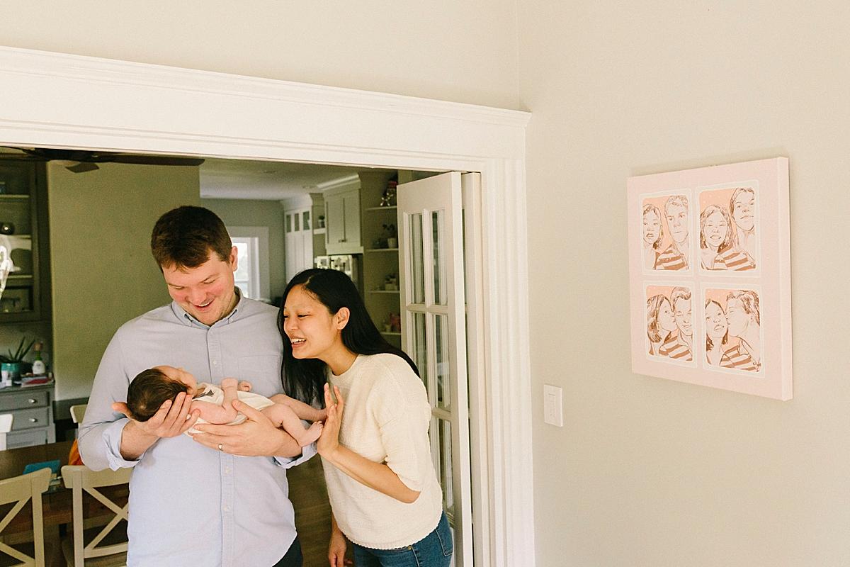 needham newborn photographer parents with newborn
